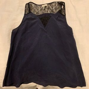 NWOT Joie Lace Detail Silk Top